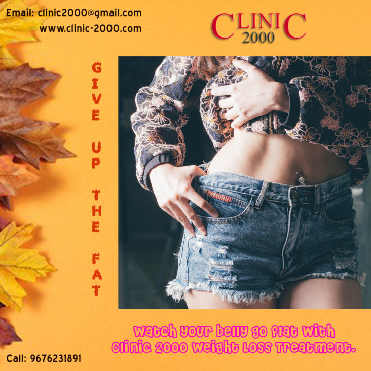 Weight Loss Treatment In Hyderabad, Flatten your Belly with Clinic 2000 Weight Loss Treatment